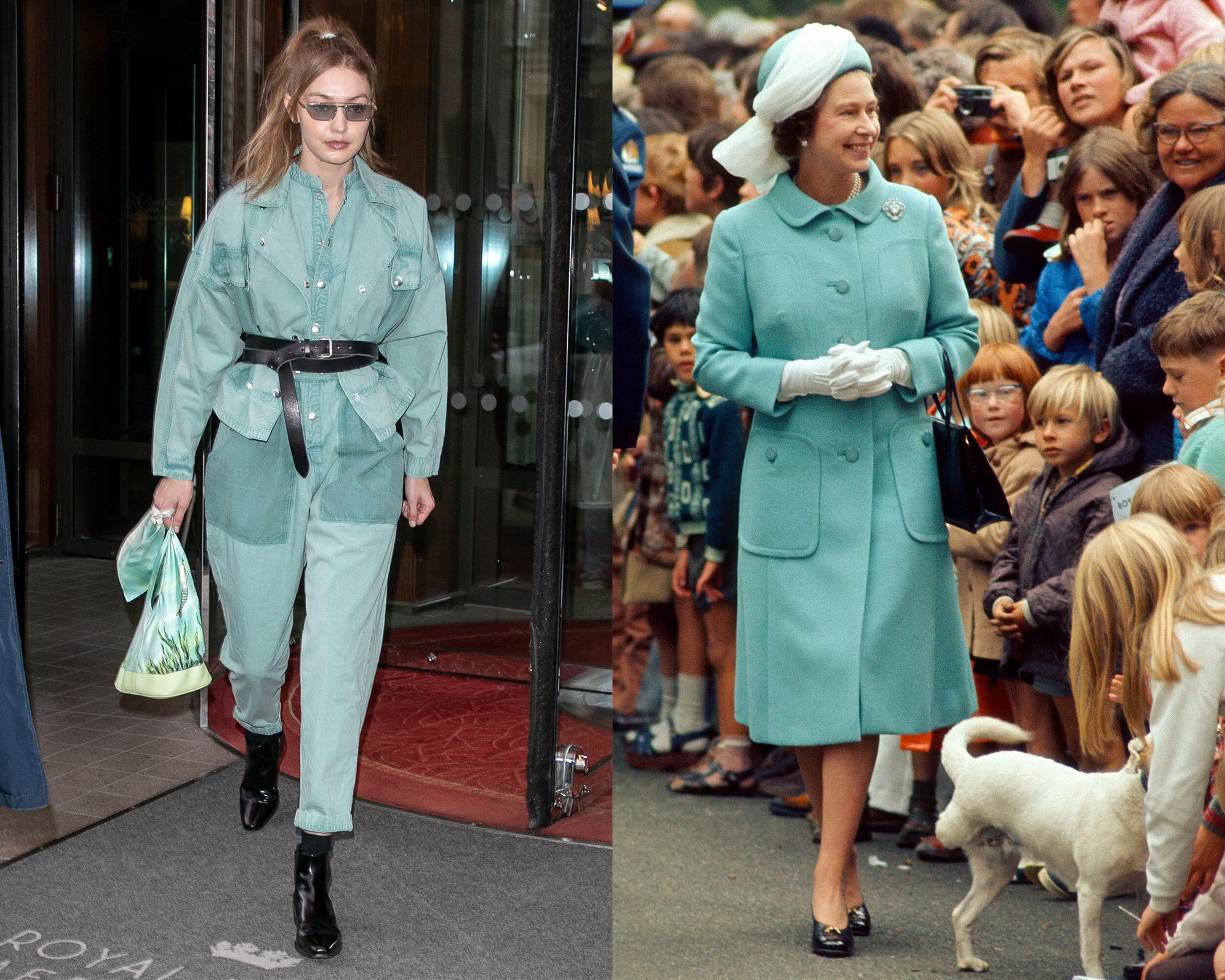 Gigi Hadid vs. the Queen