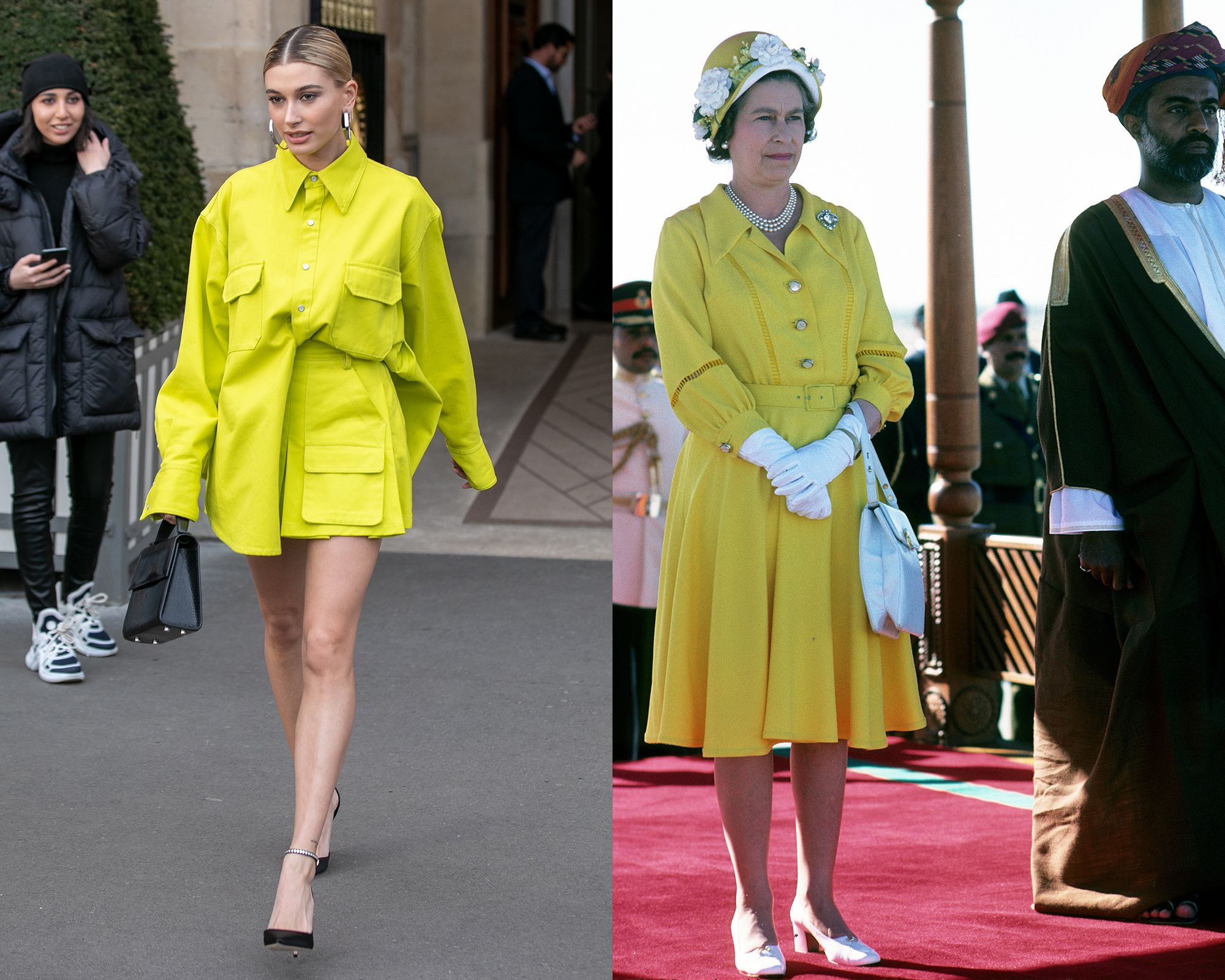 Hailey Bieber vs. the Queen
