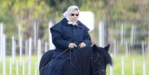 エリザベス女王 乗馬 ウィリアム王子 キャサリン妃 ルイ王子 アン王女 ザラ・ティンダル