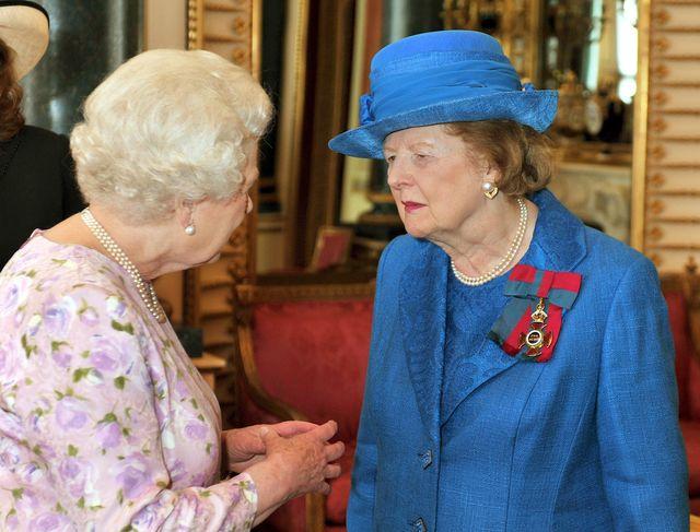 queen elizabeth margaret thatcher order of merit service