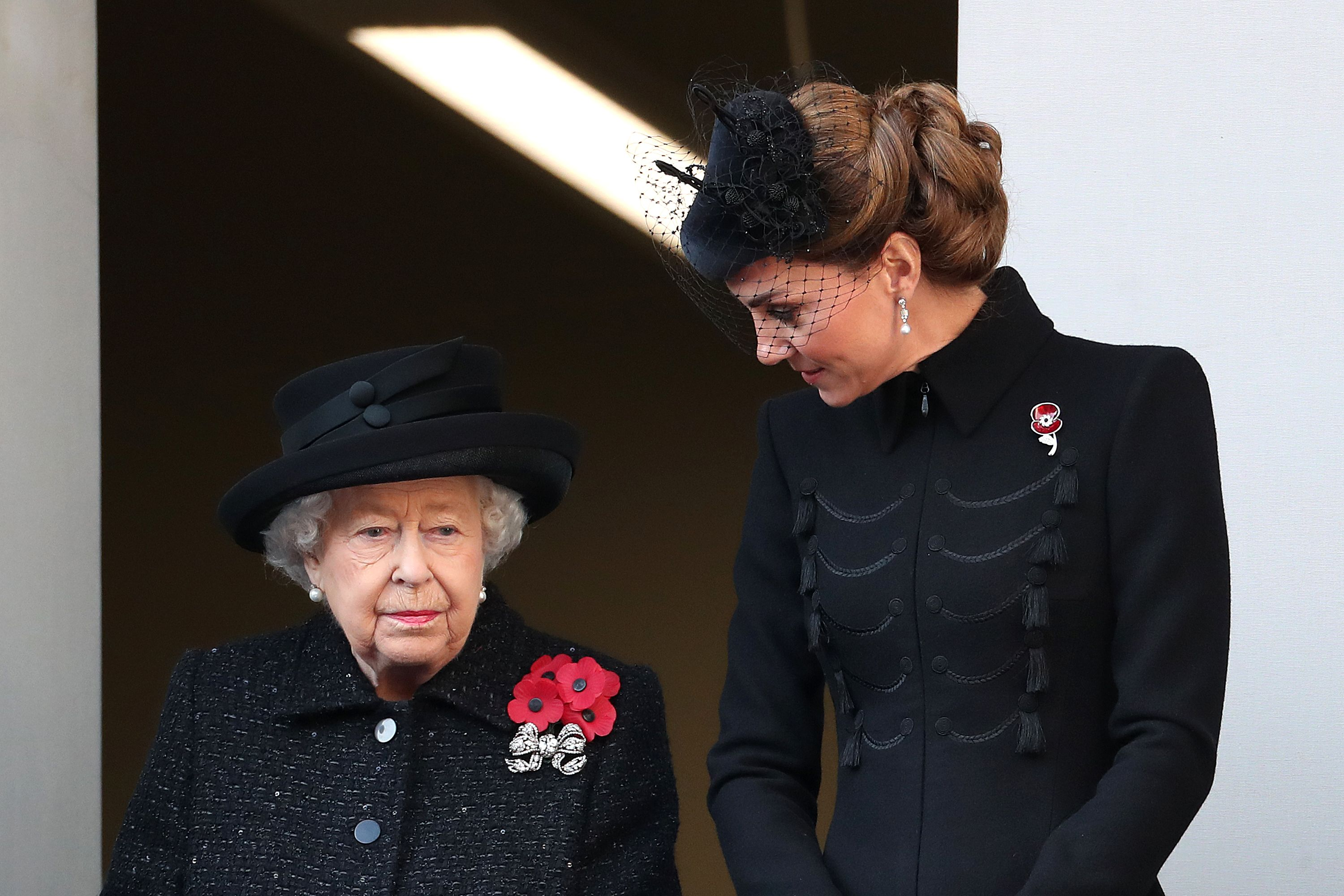 Kate Middleton Joins Queen Elizabeth and Duchess Camilla on the Balcony on Remembrance Sunday