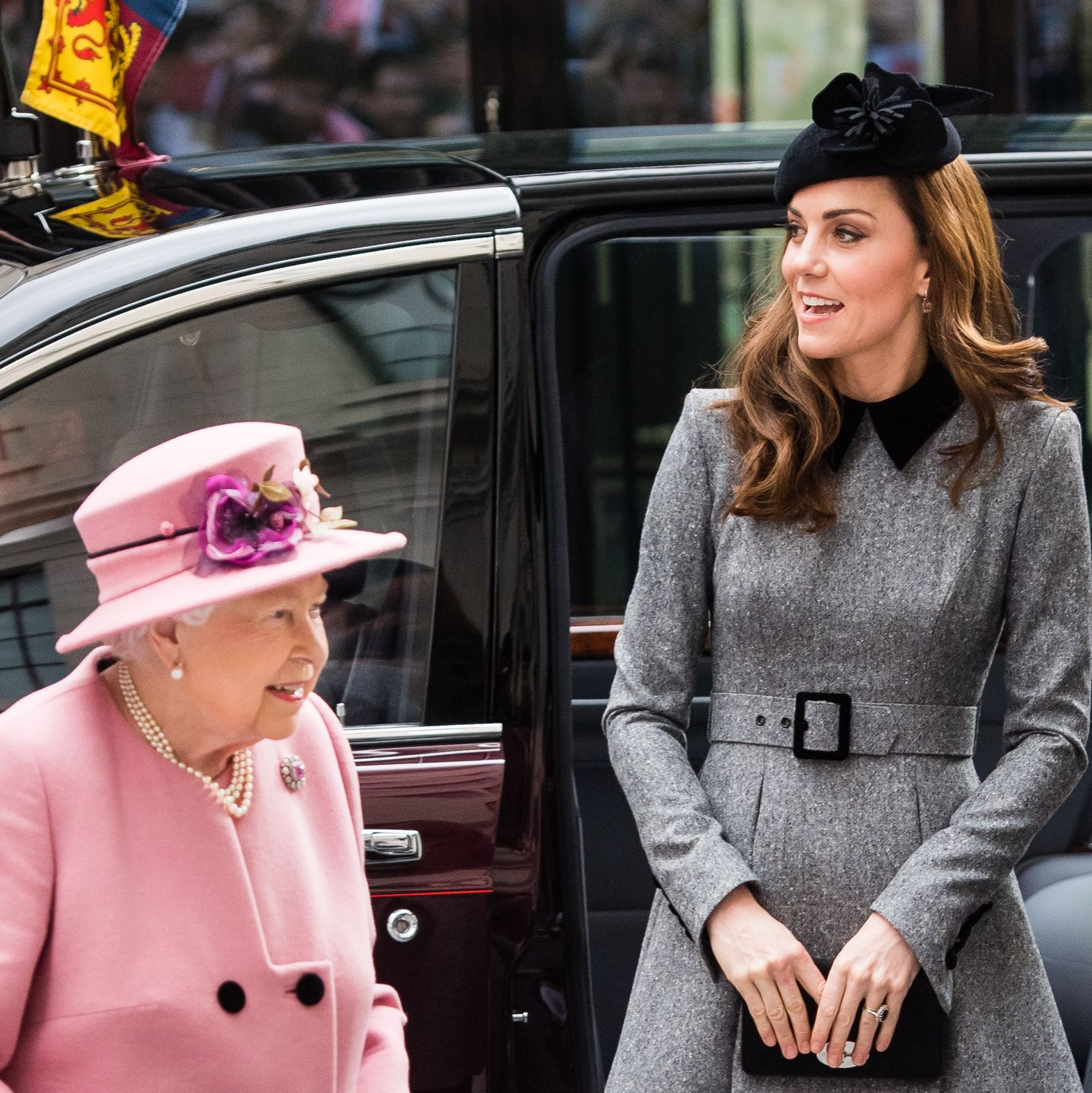 Kate Middleton & Queen Elizabeth Make a Rare Joint Appearance at King's College in London