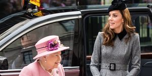 Queen Elizabeth II And The Duchess Of Cambridge Visit King's College London