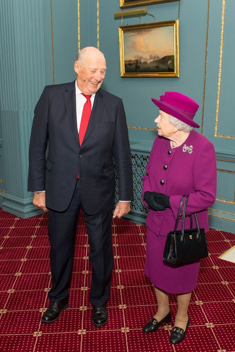 the queen attends the anglo norse society centenary reception