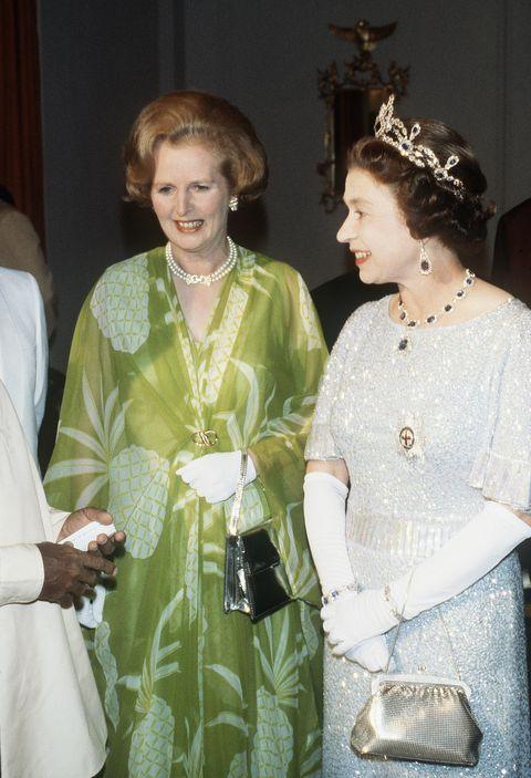 zmb queen elizabeth ii and margaret thatcher visit zambia