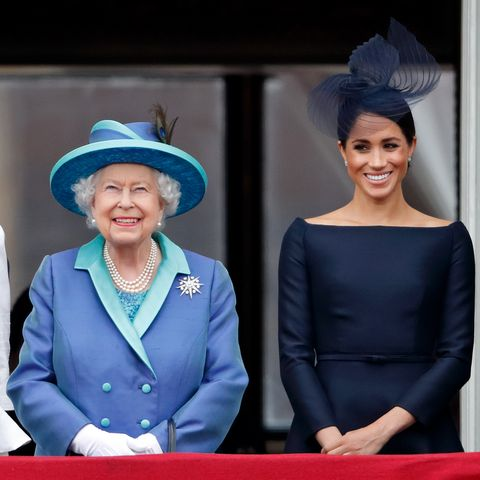 Meghan Markle and the Queen on July 10, 2018
