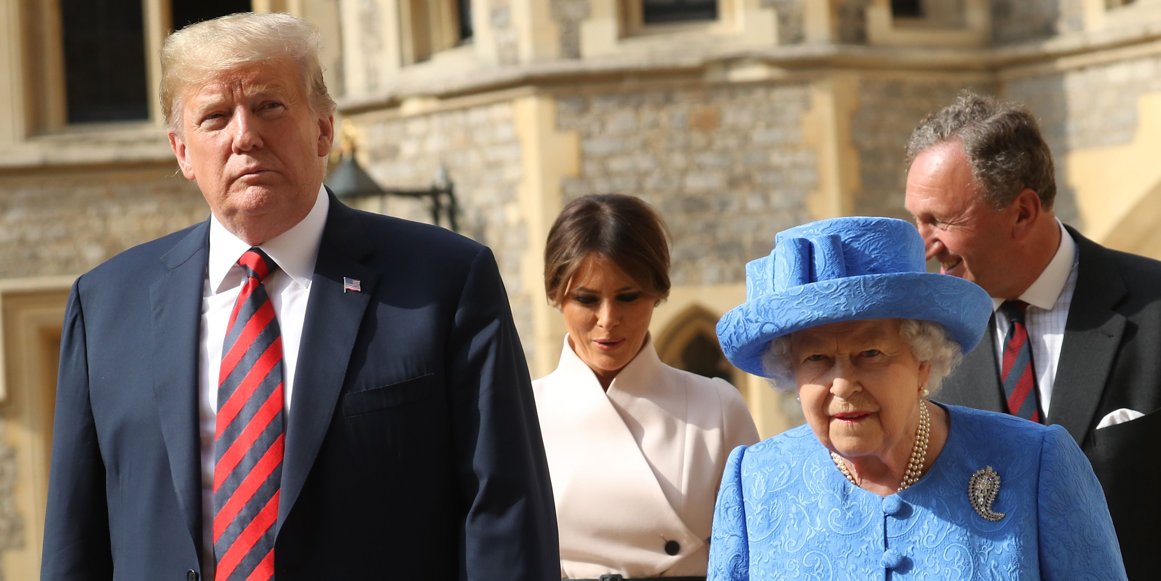 The President Of The United States And Mrs Trump Meet HM Queen