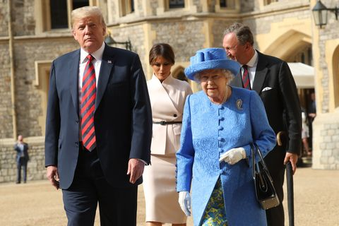 The President Of United States And Mrs Trump Meet HM Queen