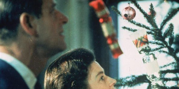The Queen and Prince Philip at Christmas