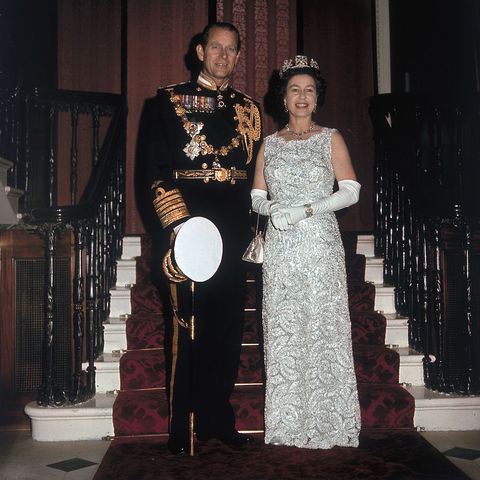 queen elizabeth ii and prince philip duke of edinburgh on the occasion of their 25th silver wedding anniversary celebrations held at buckingham palace, 20th november 1972 photo by hulton archivegetty images