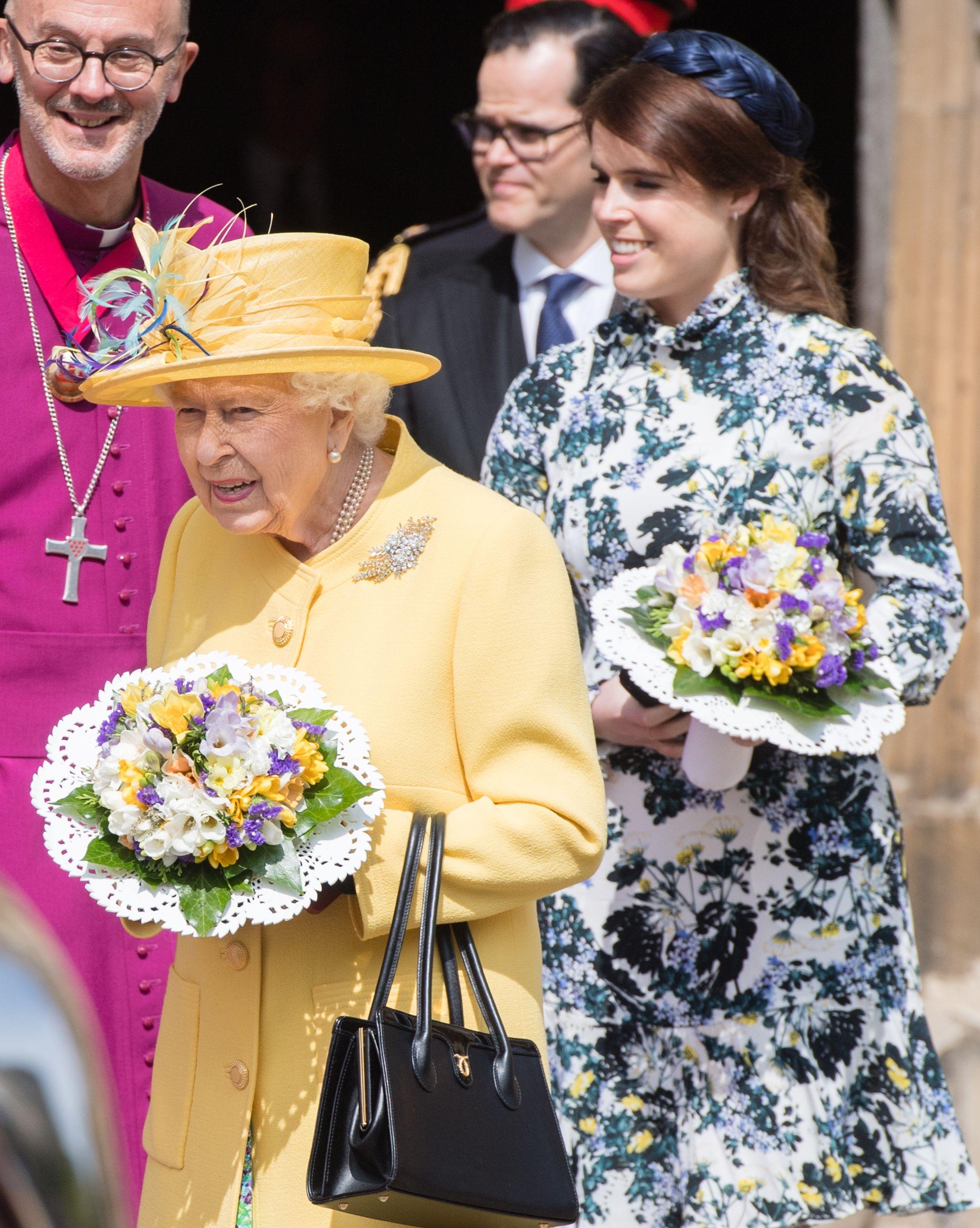 queen elizabeth princess eugenie Royal Maundy Service 2019 st georges chapel