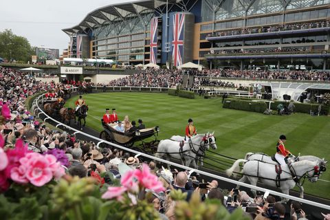 Racegoers Enjoy the First Day Of Royal Ascot