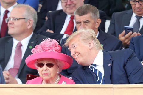 エリザベス女王 ドナルド・トランプ大統領