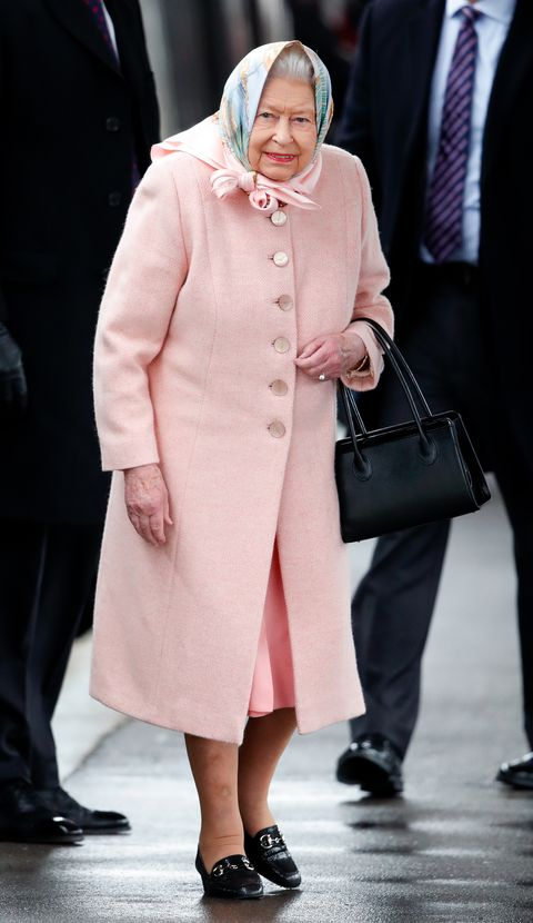 the queen arrives at kings lynn station for her christmas break at sandringham