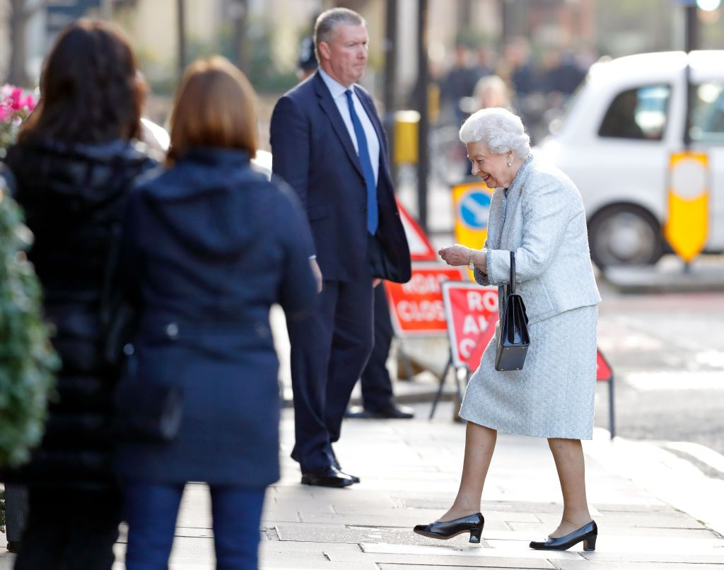 The Queen steps out for lunch at her favourite London hotel