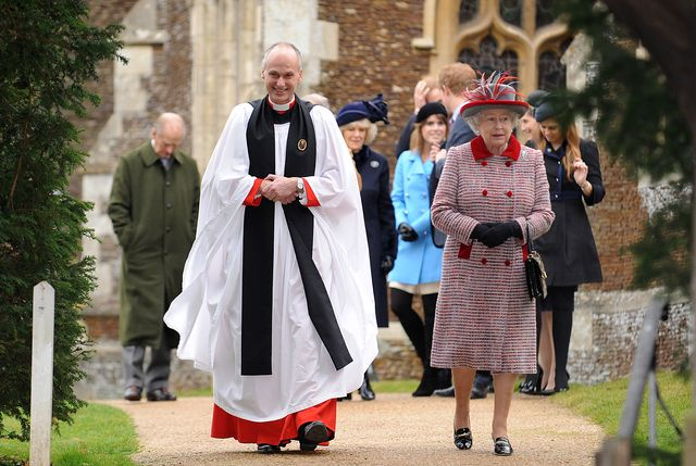 the royal family attend christmas day service at st mary magdalene church