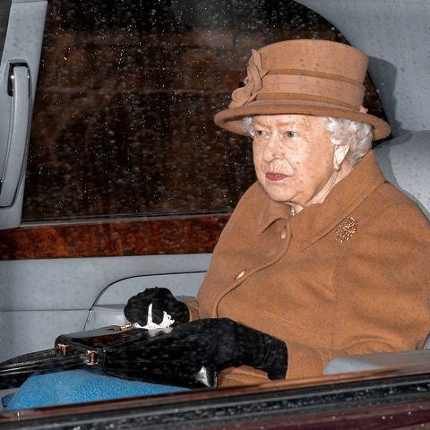 Queen Attends Sunday Church in Sandringham