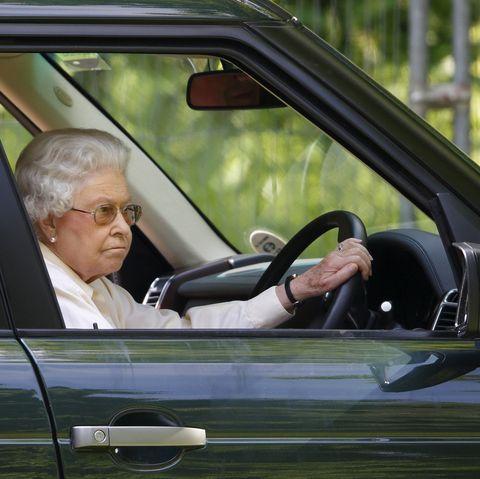 Queen Elizabeth Driving