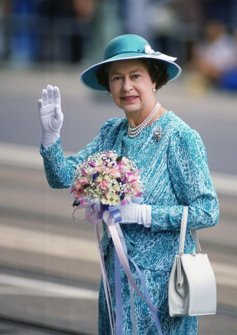 Queen Elizabeth II during a visit to Hong Kong