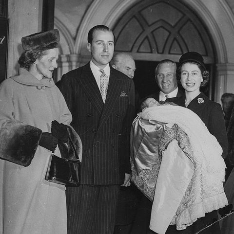 Queen Elizabeth II With Lord And Lady Porchester