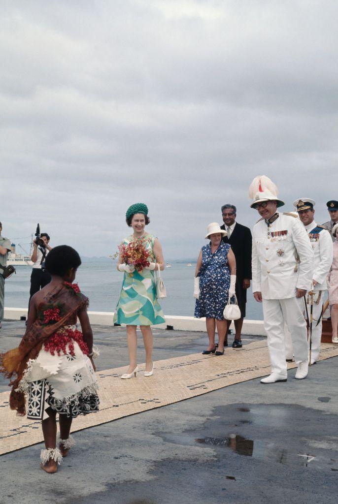 Queen Elizabeth At Suva