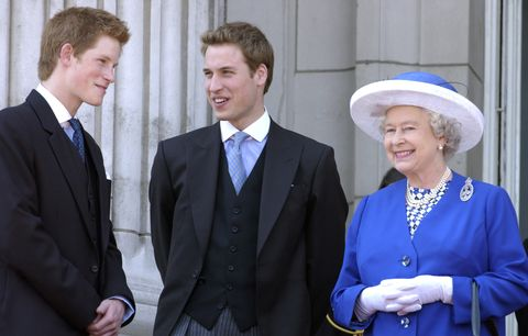 prince william and harry and queen