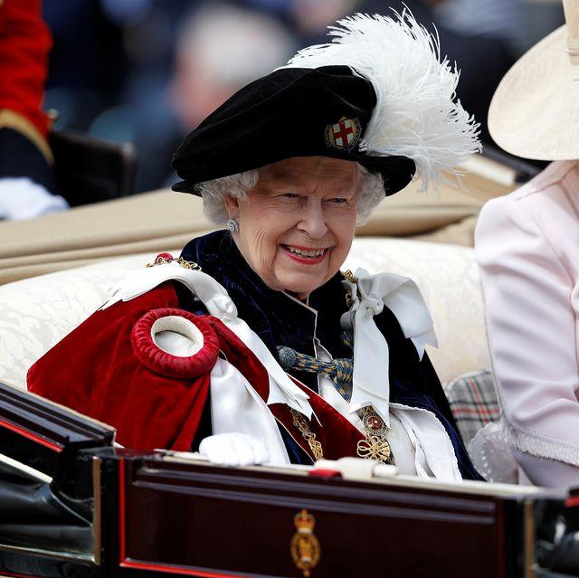 queen elizabeth Order Of The Garter Service At Windsor Castle