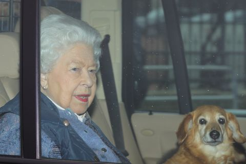 Queen leaves London