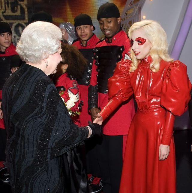 lady gaga meets queen elizabeth