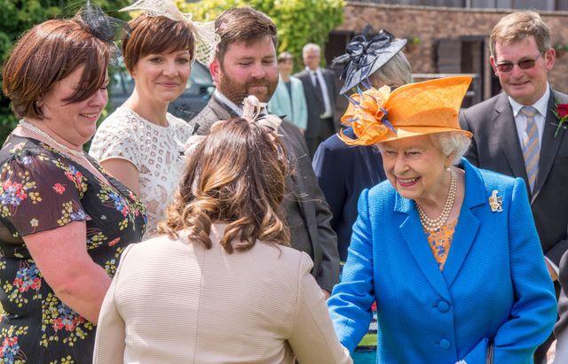 queen elizabeth ii visits duchy of lancaster farms in staffordshire