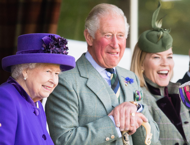 Queen Elizabeth, Prince Charles & Camilla at Braemar