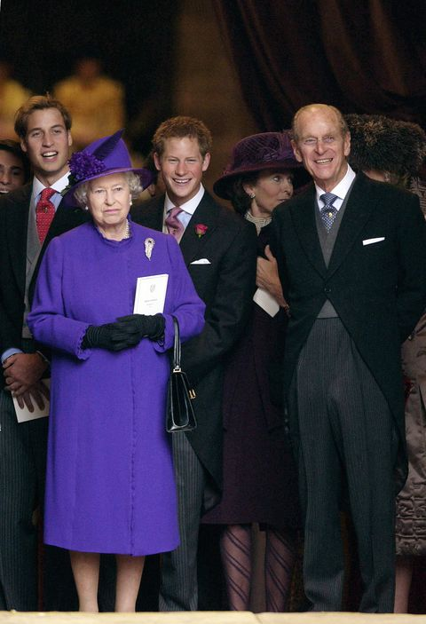 queen philip william and harry at wedding