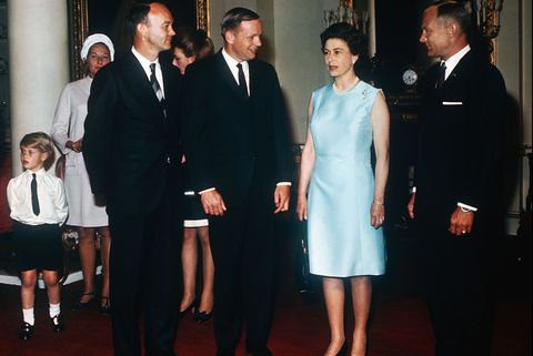 Queen Elizabeth II and Apollo 11 Astronauts