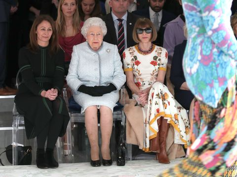 The Queen Presents The Inaugural Queen Elizabeth II Award For British Design At London Fashion Week