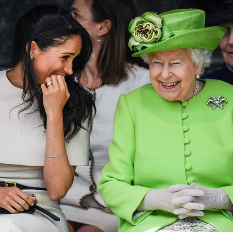 a1fbb8bffd The Duchess Of Sussex Undertakes Her First Official Engagement With Queen  Elizabeth II