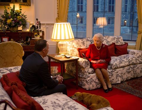 queen elizabeth ii meets prime minister of new zealand john key at windsor castle