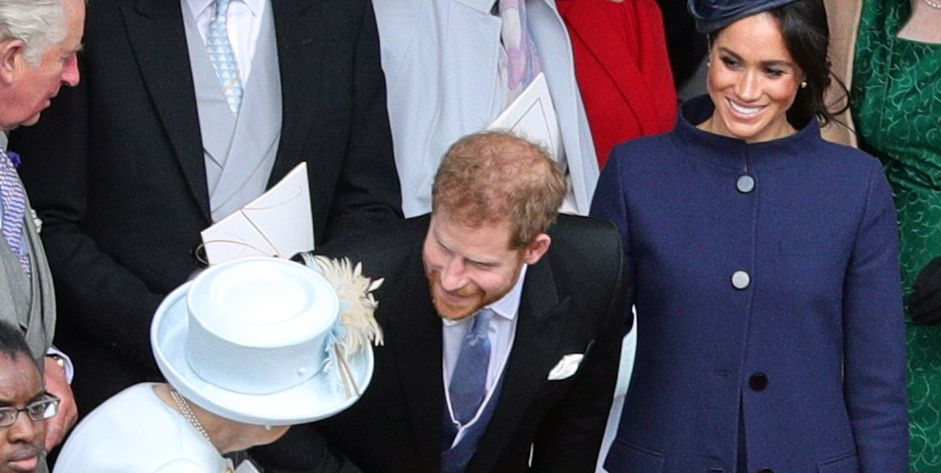 Meghan Markle and Prince Harry Had a Moment With Queen Elizabeth II at Princess Eugenie's Wedding