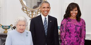 Michelle Obama with the Queen