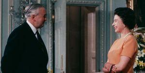 Queen Elizabeth With PM Wilson