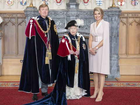 king willem alexander queen maxima queen elizabeth Order Of The Garter Service At Windsor Castle