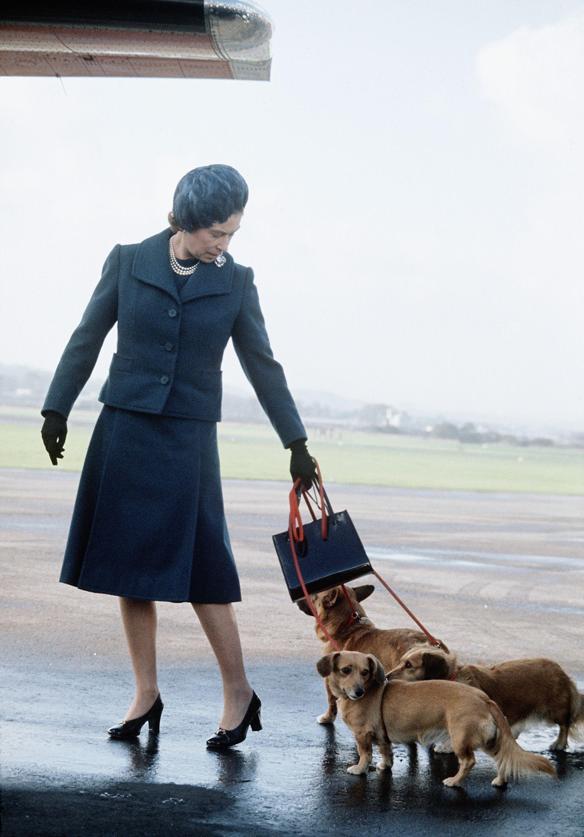 Queen Elizabeth ll arrives at Aberdeen Airport...