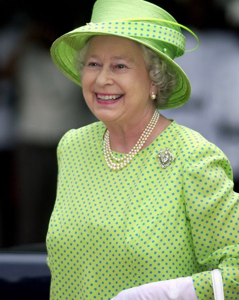queen laughing portrait