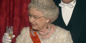 Queen Elizabeth II On Official Visit In Paris : Day 2