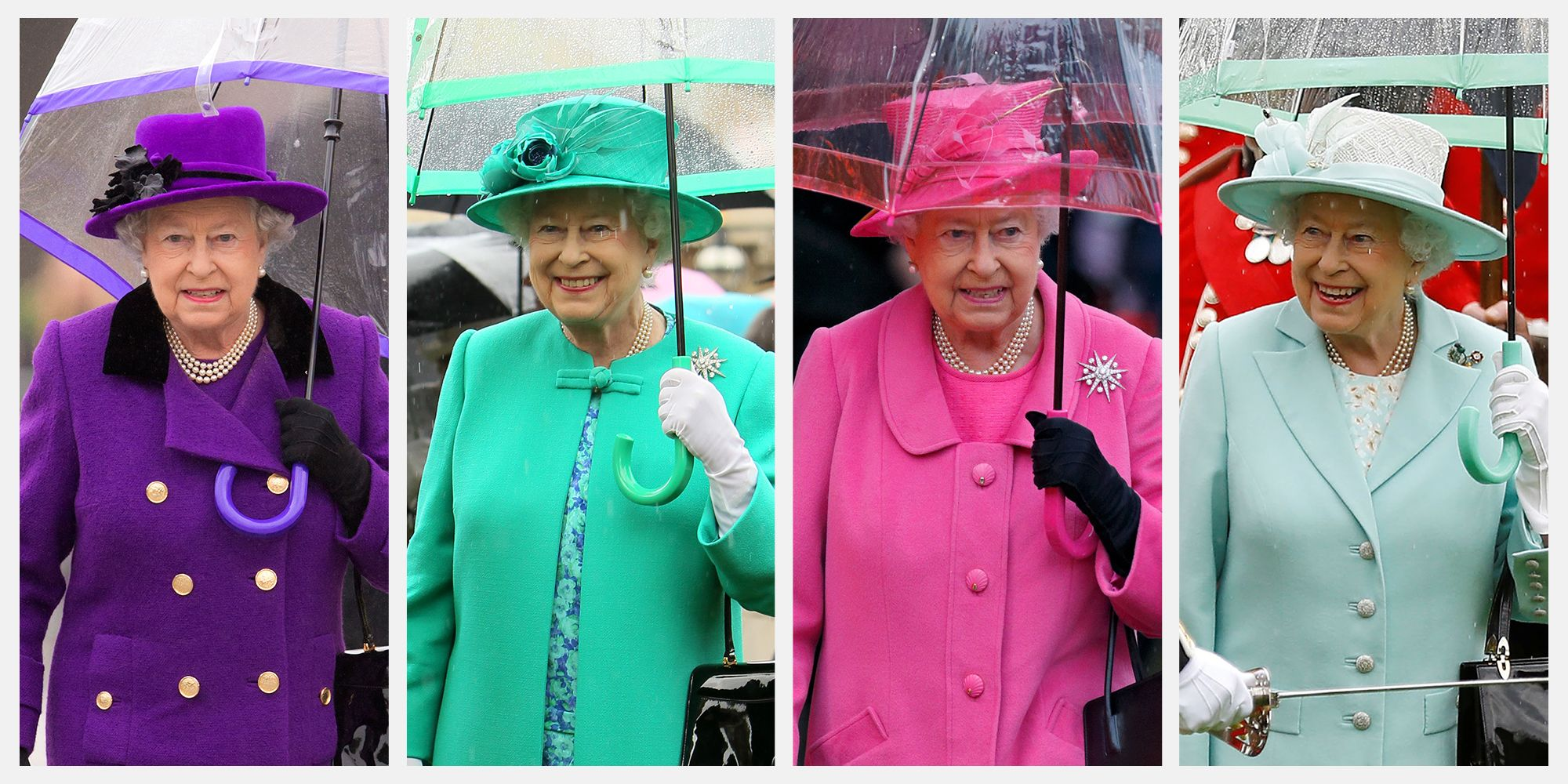 6cd1825c2e8 Queen Elizabeth s Fulton Umbrellas Match Her Clothes Exactly. Here s ...