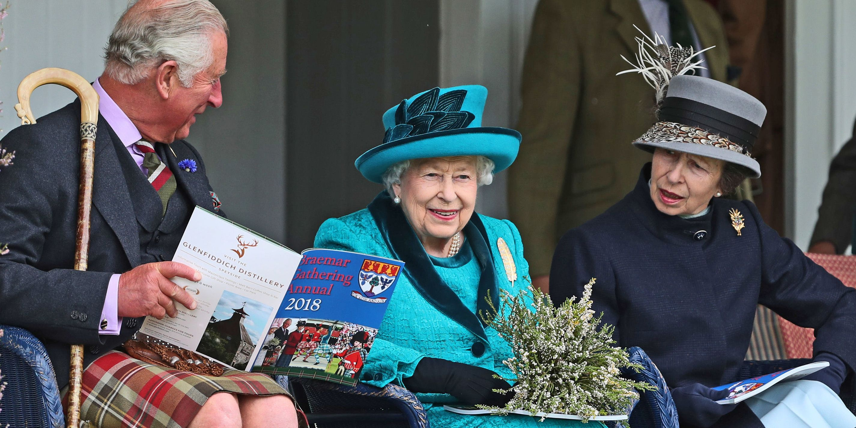 The Queen enjoys family day out at annual Braemar Gathering