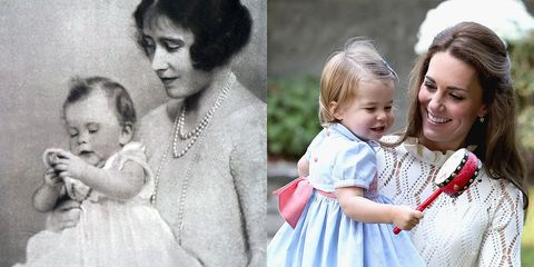 queen elizabeth princess charlotte royal babies