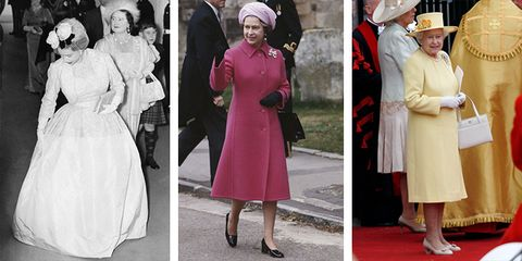 208c111cda 32 of Queen Elizabeth s Best Royal Wedding Outfits
