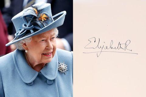 queen elizabeth signature