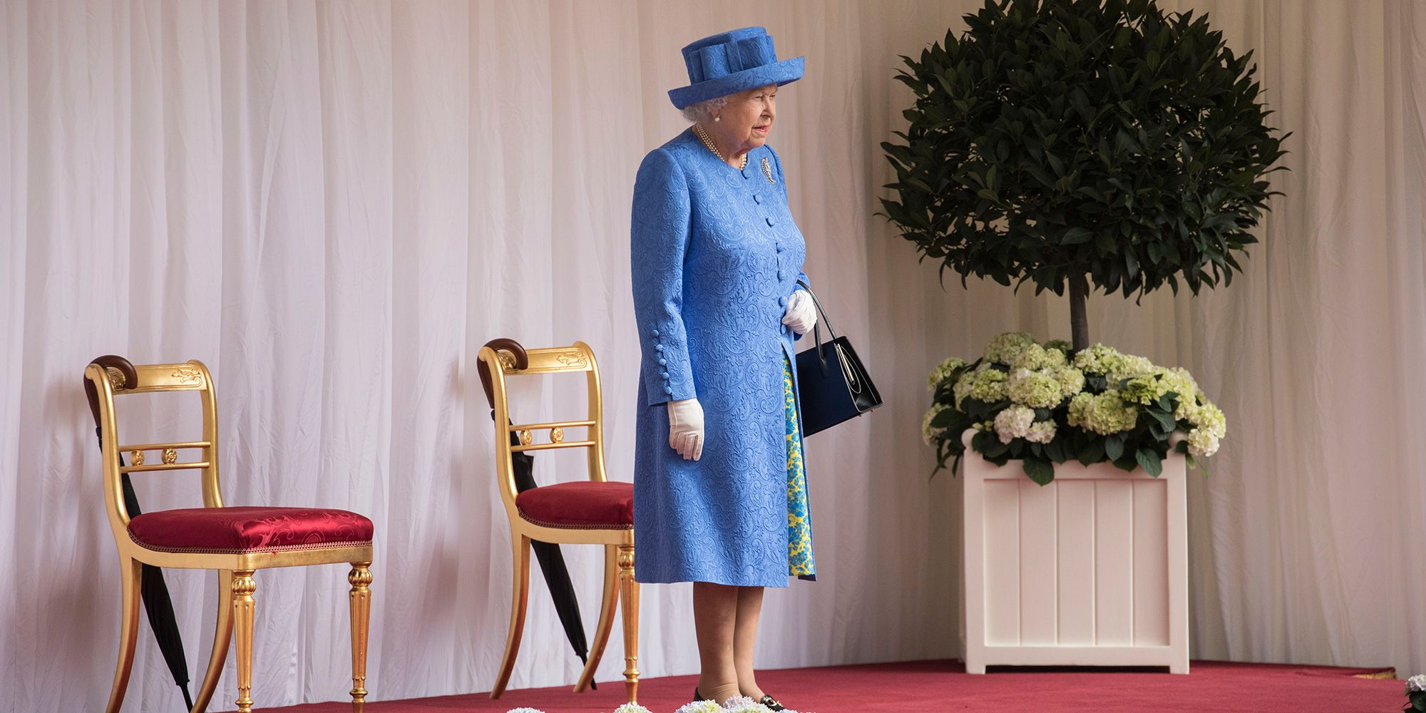 Donald Trump denies making the Queen wait 15 minutes for him to arrive