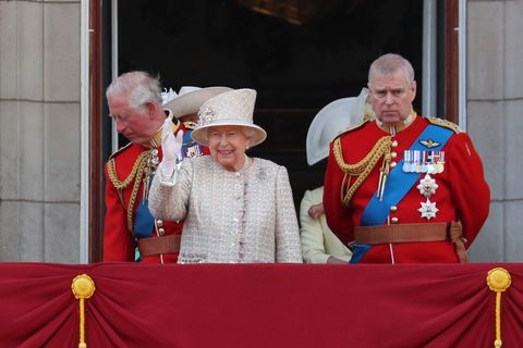 The Queen on the Buckingham Palace balcony